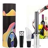 Wein Flaschenöffner Set,V·RESOURCING Weinflaschenzubehör:Luftdruck Flaschenöffner mit Weinausgießer,Folienschneider und Vakuum-Stopper,Perfektes Wein-Zubehör Geschenk für Weinliebhaber(Geschenkbox)