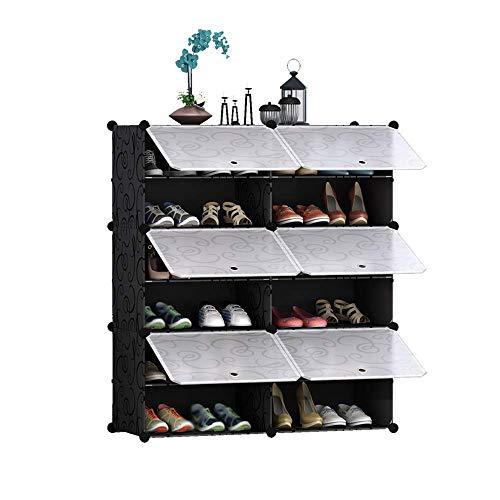 Zapatero multiusos portátil,espacio para gabinetes de zapatos,gabinete de almacenamiento de pasillo moderno simple,gabinete de almacenamiento DIY expandible,impermeable,a prueba de polvo y fácil de li