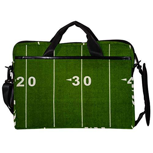 EZIOLY Football Yard Line Laptop-Umhängetasche, Umhängetasche, Umhängetasche, Umhängetasche, Messenger Bag, für 35,6 cm bis 15,4 Zoll Laptop