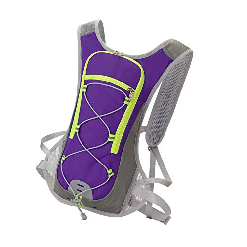 Hydration Packs Running Nylon Outdoor Bags Hiking Backpack Vest Cross Country Purple