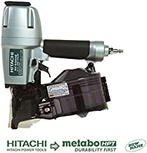 Hitachi Coil Siding Nailer, Siding Nails 1-1/2 inch To 2-1/2 inch, Side load, Tilt Bottom..