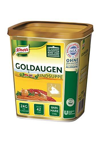 Knorr Goldaugen Rindsuppe (vielseitig anwendbare Rinderbrühe, authentischer Geschmack und idealer Suppenspiegel) 1er Pack (1 x 1 kg)