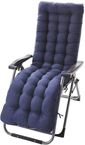 cojín Cojín transpirable para silla de jardín transpirable, cojín para asiento al aire libre con correa de esquina de una sola pieza Cojín de asiento reclinable -e 155x48 cm Cojín de silla de comedor
