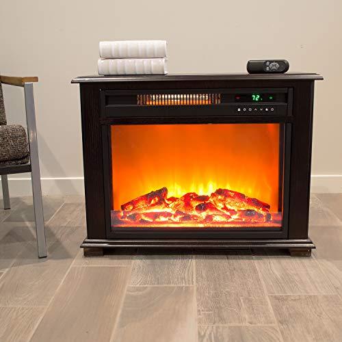 LifeSmart Dark Walnut Fireplace Heater