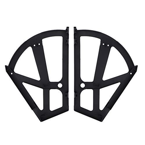 iFCOW Inicio Plástico hueco de dos capas para zapatero estante estante estante soporte bisagras accesorio (negro)