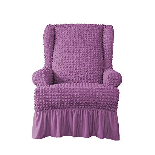 CENPENYA Jacquard Sesselbezug, Sessel-Überwürfe Ohrensessel bezug Stretch sesselhussen Sessel bezug husse für ohrensessel, für Fernsehsessel Liege Sessel (lila)