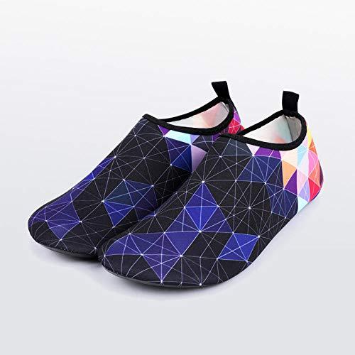 Aerlan Buceo Zapatos de Agua,Secado Rápido Zapatos,Buceo en la Playa esnórquel Zapatos Suaves de Secado rápido Antideslizantes y a Prueba de Cortes-E_44 / 45