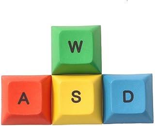 キーキャップ DSAプロフィールPBT RGBY ESC WASD方向矢印キーキャップメカニカルキーボード染料昇華キーキャップ DIYキーボードアクセサリ (Colore : WASD keys)