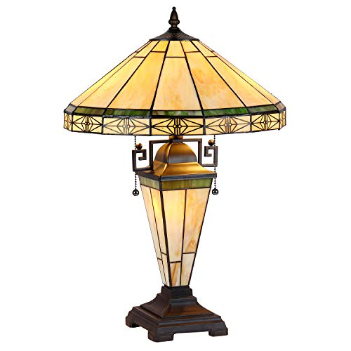 Tiffany Table Lamp, Capulina Handcrafted 24″ Stained Glass Table Lamp Shades, Tiffany Floor Lamps for Living Room, Stained Glass Lamp, Tiffany Desk Lamp – Gothic Glass Style