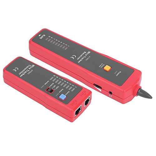 Detector de cable Herramienta de rastreo de línea Probador de cable Buscador de línea Distancia de prueba de 1000 M Material ABS duradero para ingeniería de línea de red