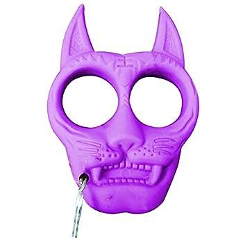 TAKE FANS Porte-clés portable en plastique en forme de tigre - Accessoire de survie pour extérieur (violet)