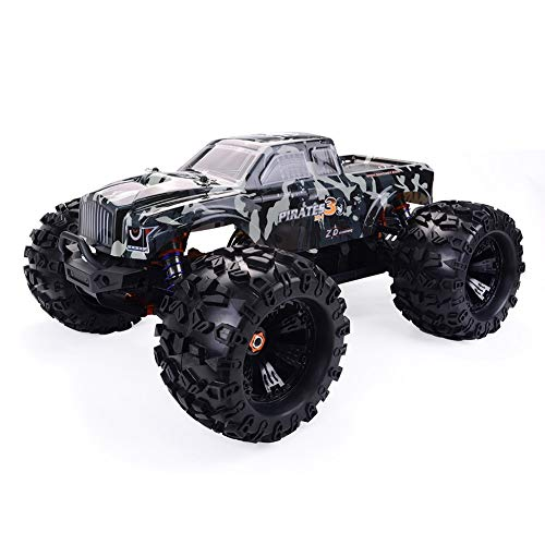BTIHCEUOT RC Climbing Car,ZD Racing Camouflage MT8 Pirates3 1/8 4WD 90km/h Brushless RC Car Toy Kit