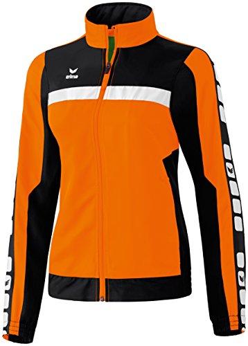 Erima Damen Classic 5-C Jacke Sports-/Präsentationsjacke, orange/schwarz/weiß, 38