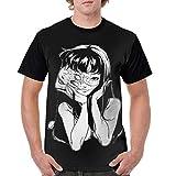 Orayhw Terror Junji Ito Tomie Men's Casual Round Neck Short Sleeve T-Shirt XL Black