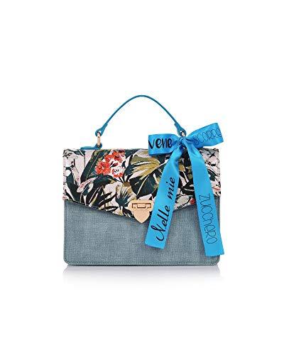 LE PANDORINE Borsa Donna Cartella Quadrata Zucchero Audrey | PE19DAP0231502-Elettric Blue