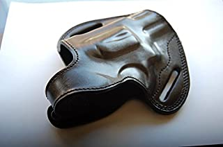 Cal38S3 Handcrafted Leather Belt Holster for SW 686 Plus Barrel 2.5 Tan Black (R.H)