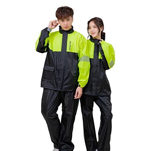 Adulto impermeable cuerpo completo impermeable conjunto con capucha motocicleta pantalones lluvia traje dividido, hombres y mujeres espeso impermeable reutilizable impermeable lluvia poncho impermeabl