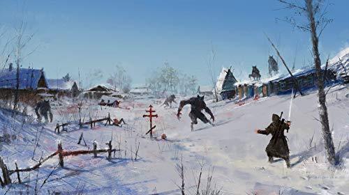 Rompecabezas de 1000 piezas monstruo enjambre en la aldea de la nieve Rompecabezas para adultos, rompecabezas de madera, kit de bricolaje 75 x 50 cm