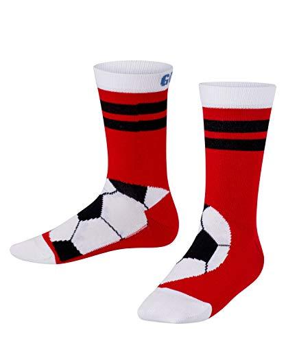 FALKE Unisex Kinder Active Soccer Socken, rot (feuerrot 8075), 31-34
