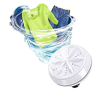 ZLGP Mini Portable Turbo Automatic Electric Washing Machine Ultrasonic Cycle Cleaning Laundry Reusable Household Small Spin Dryer For And Travel Equipment,A