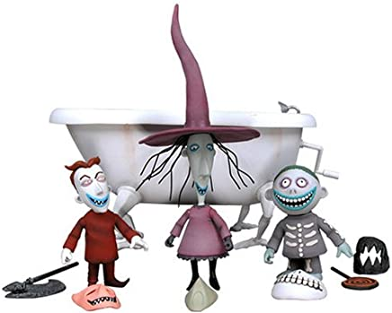 Tim Burton's The Nightmare Before Christmas - Action Figures 3 Pack: Lock, Shock,  Barrel Bathtub Boxed Set