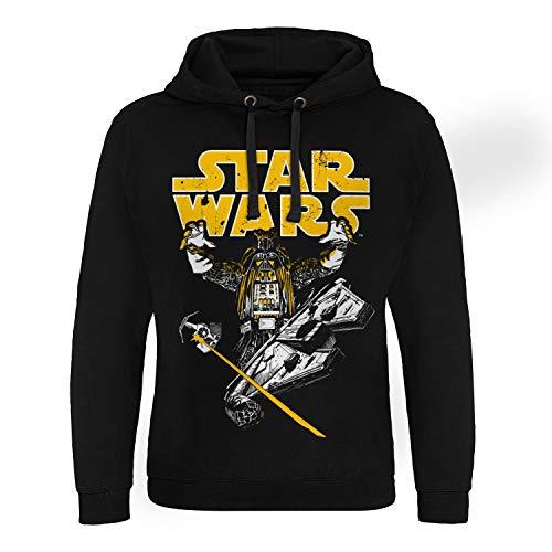 Star Wars Officiellement sous Licence Vader Intimidation Epic Sweat à Capuche (Noir), Large