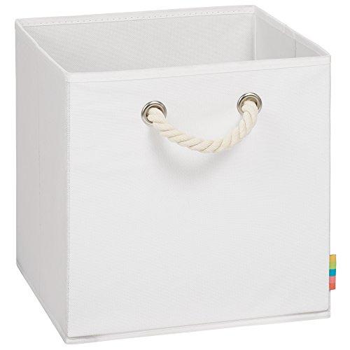 Storanda | Aufbewahrungsbox LEO - Faltbox - Korb - 30x30x30 cm - (Weiß)