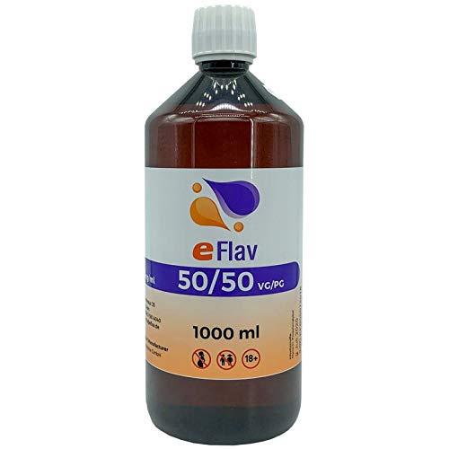 eFlav eLiquid Basis 1000 ml ohne Nikotin, Base:50% PG / 50% VG