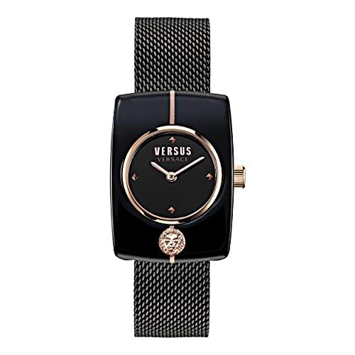 Versus Reloj de pulsera para mujer Versace NOHO 25 x 35 mm, color: negro