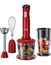 Russell Hobbs 24730-56 Desire Food Processor, 2 snelheden, impuls-/ice-crush-functie, rood/zwart