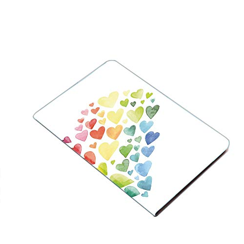 Case for iPad Air 10.5' 2019 (3rd Generation) & iPad Pro 10.5 2017,Multicolored Hearts forming a Giant Colorful Rainbow Inspired Heart Love Artwork Decorative PU Leather Business Folio Cover,with Stan