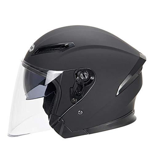 Cascos De Moto Casco de la motocicleta casco de la moto de motocross Moto casco for motocicleta (Color : Matte Black, Size : M)