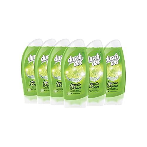 Duschdas Duschgel Damen 6er Pack Prickelnd Frisch, mit natürlich frischem Duft, dermatologisch getestet (6 x 250 ml)