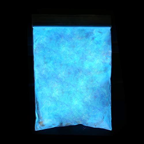 Poudre fluorescente - 3 couleurs Night Glow Pigment luminescent Glow - DIY Pigment Nail Coating Noctilucent Powder(Bleu ciel)