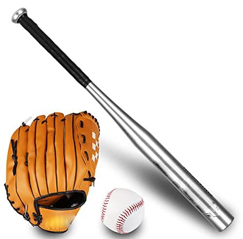 Juego De Béisbol, Guante De Béisbol Serie De Bate De Béisbol Para Niños Y Jóvenes Teeball Para Jóvenes, Adultos, Niños, Equipo Entrenamiento Béisbol, Agarre Cómodo, Práctica Deportes Al Aire Libre