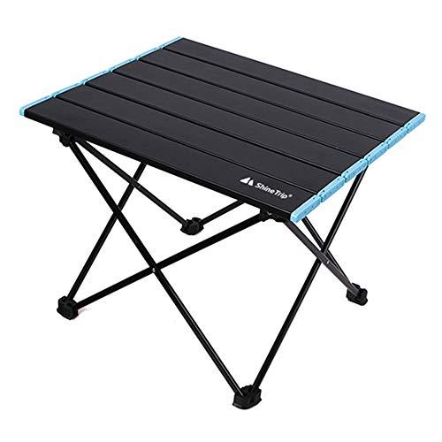 Dailing Tragbarer Campingtisch, klappbarer Picknicktisch mit Tragetasche, leichter Aluminiumlegierung, Mini-Rolltisch, zusammenklappbarer Picknicktisch für Outdoor, Camping, Picknick, Strand, Angeln