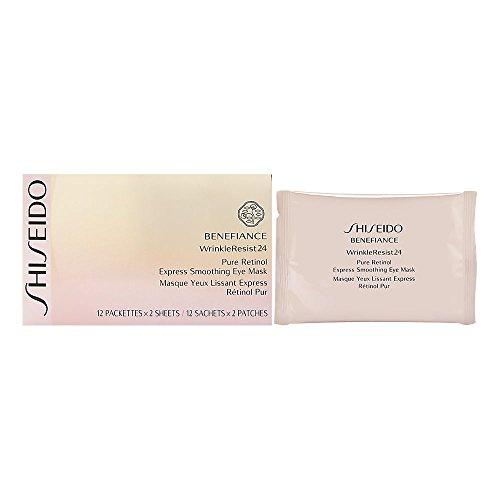 Shiseido Benefiance WrinkleResist24 Pure Retinol Express Smoothing Eye Mask Anti-Aging Augenmaske, 12 Stück