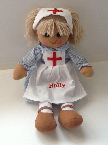 Hermosa muñeca de trapo personalizable. 40 cm. Enfermera, marinero u ángel. Gran regalo...
