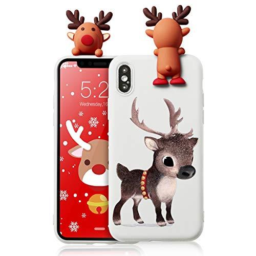 Yoedge Samsung Galaxy A50 / A30s / A50s - Funda de silicona líquida con estampado personalizado de Navidad y una muñeca pequeña a prueba de golpes TPU para Samsung Galaxy A50 / A30s / A50s 04