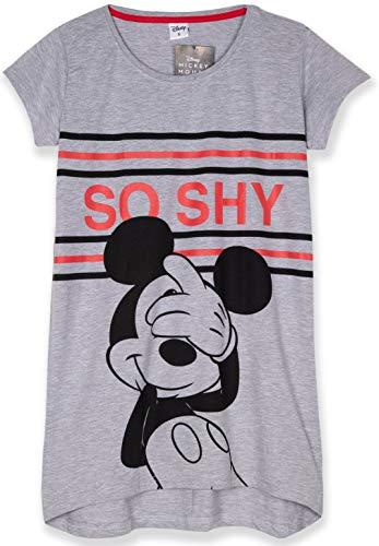 Disney Lizenzprodukt Nachtwäsche Damen-Nachthemd, Schlafanzug-Set, Baumwoll-Stoff, S, M, L, XL Gr. Small, Graues Nachthemd - So Shy