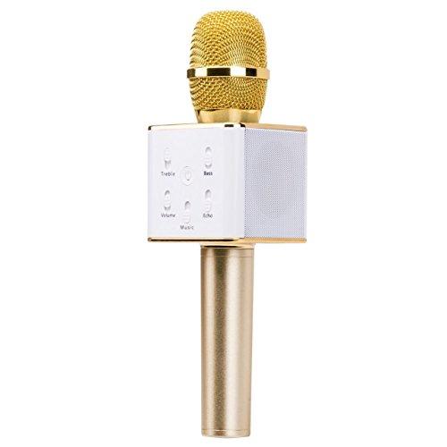 Dazhong portatile microfono wireless, mini palmare cellulare Karaoke Player incorporato Bluetooth Speaker, karaoke microfono per casa KTV Smart Phones iphone / ipad Computer
