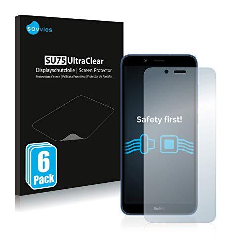 savvies 6-Pezzi Pellicola Protettiva Compatibile con Xiaomi Redmi 7A Protezione Schermo Trasparente