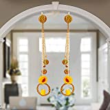 Marshland Latkan Round Pattern Lightening Smoke Less Candle Latkan for Main Door Entrance Pooja Room Living Room Decorative Wall Handmade Hangings for Positivity (Yellow)