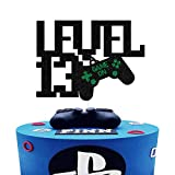 Level Up 13th Birthday Cake Topper,Sparkly Glitter Gamepad Cake Decor, Kids Gamer's Teen 13th Birthday Cake Decor, Video Game Controller Themed Happy Birthday Party Decorations