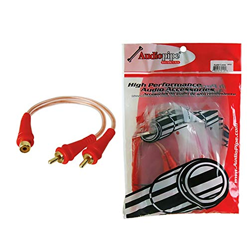Review Nippon BMSGYF2M Bin Master Clear 1F-2M Audiopipe RCA Cable Splitters 10Pk
