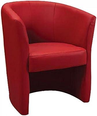 AL PENTOLONE poltrona pegasus rossa ecopelle cm65x60 h78, UNICA