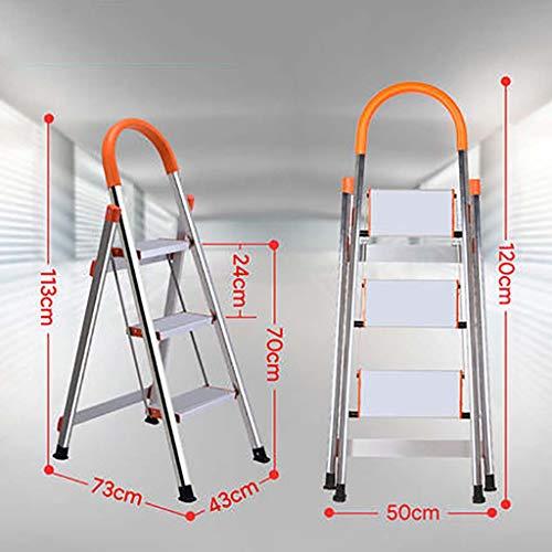 3 Pasos Aluminio Aleación Escalera,antideslizante Peldaños Plegables Ligero Escaleras De Mano Portátil Escalera Para El Hogar Cocina Oficina Almacén-a