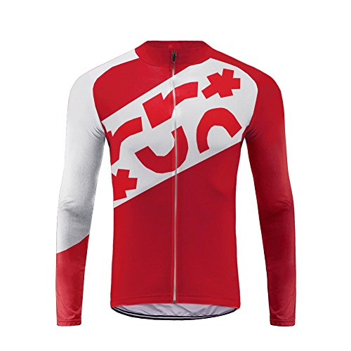 Uglyfrog Winter Jersey Thermisches Fahrradtrikot Vlies Thermo Langarm Shirt Herren Breathable Radfahren Fahrrad Lange Hülsen Fahrrad Hemd Männer Langarm Fahrradbekleidung Radfahren