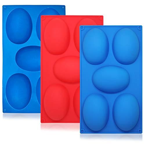 SourceTon - Stampo in silicone per uova di Pasqua, confezione da 3