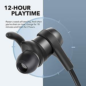 Anker SoundBuds Flow Bluetooth Kopfhörer, In-Ear Kopfhörer mit Bluetooth 5.0, IPX7 Wasserschutzklasse, 12 Stunden Wiedergabezeit